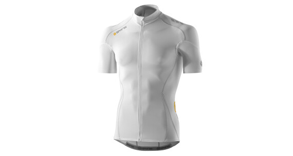 Skins C400 Men's Short Sleeve Compression Jersey white/grey